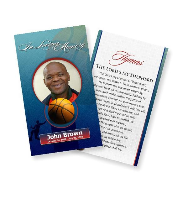 Funeral Prayer Cards (Large) Basketball ST A Hawks 0009