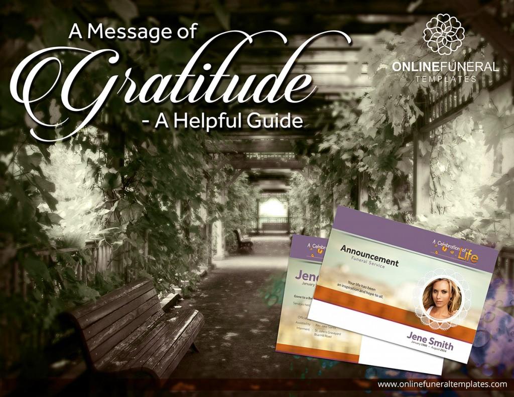 A MESSAGE OF GRATITUD