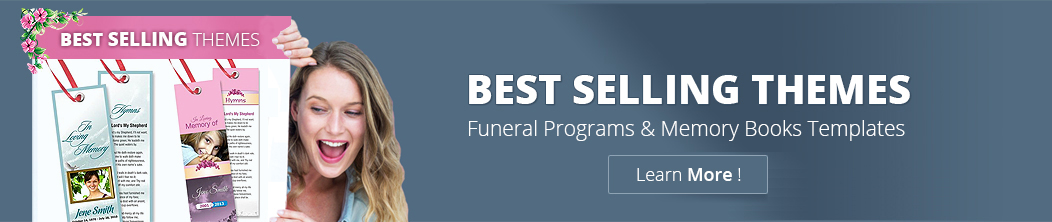 Funeral Memorial Templates, Customize Funeral Template, Affordable ...