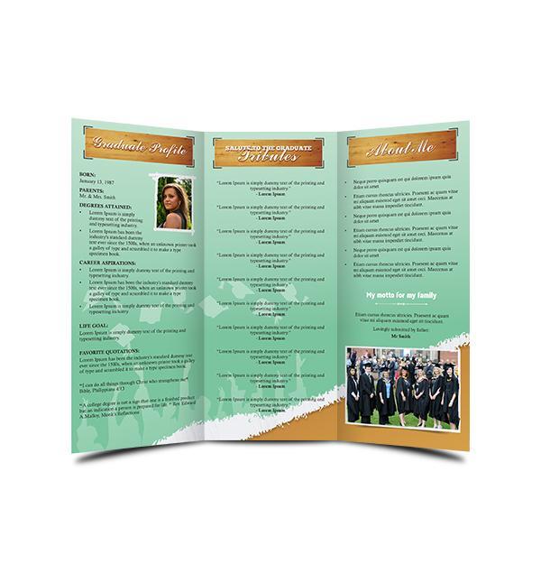 tri fold bulletin template