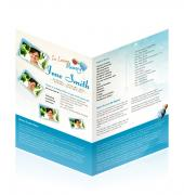 Letter Single Fold Programes Simple Theme #0040