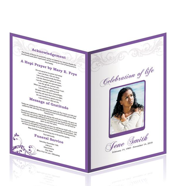 free editable funeral program template laveyla – Funeral Service Template Word