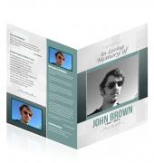 A4 Single Fold Programes Simple Theme #0044