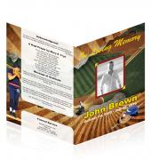 A4 Single Fold Programs Baseball #0020