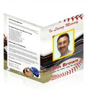 A4 Single Fold Programs Baseball #0011