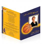 A4 Single Fold Programs Basketball #0023