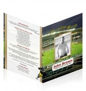 A4 Single Fold Programs Rugby #0029