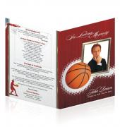 A4 Single Fold Programs Sports Basketball #0030