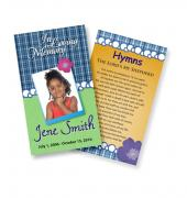 Funeral Prayer Cards (Large) Kids #0002