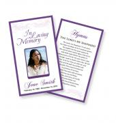 Funeral Prayer Cards (Large) Simple Theme #0001