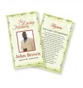 Funeral Prayer Cards (Large) Simple Theme #0007
