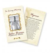 Funeral Prayer Cards (Large) Simple Theme #0011