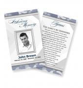 Funeral Prayer Cards (Large) Simple Theme #0020