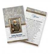 Funeral Prayer Cards (Large) Simple Theme #0021
