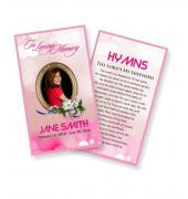 Funeral Prayer Cards (Large) Simple Theme #0022