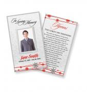 Funeral Prayer Cards (Large) Simple Theme #0024