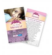 Funeral Prayer Cards (Large) Simple Theme #0033
