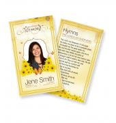 Funeral Prayer Cards (Large) Simple Theme #0037