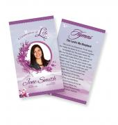 Funeral Prayer Cards (Large) Simple Theme #0038