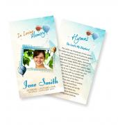 Funeral Prayer Cards (Large) Simple Theme #0040