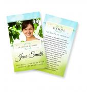 Funeral Prayer Cards (Large) Simple Theme #0041