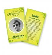 Funeral Prayer Cards (Large) Simple Theme #0043