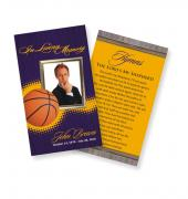 Funeral Prayer Cards (Large) Sports Basketball #0023