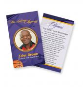 Funeral Prayer Cards (Large) Sports Basketball #0024