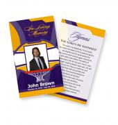 Funeral Prayer Cards (Large) Sports Basketball #0026