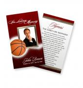 Funeral Prayer Cards (Large) Sports Basketball #0030