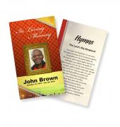 Funeral Prayer Cards (Large) Sports Rugby #0018