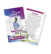 Funeral Prayer Cards (Large) Sports Soccer #0006