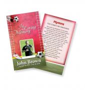 Funeral Prayer Cards (Large) Sports Soccer #0008