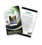 Funeral Prayer Cards (Large) Sports Soccer #0010