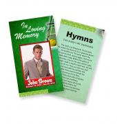 Funeral Prayer Cards (Large) Sports Tennis #0014