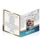 Legal Single Fold Programs Nature Theme Snow #0006