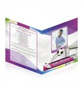 Legal Single Fold Programs Soccer #0006