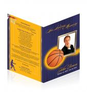 Letter Single Fold Programes Basketball #0023