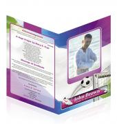 Letter Single Fold Programes Soccer #0006
