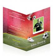 Letter Single Fold Programes Soccer #0008
