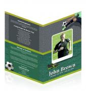 Letter Single Fold Programes Soccer #0009