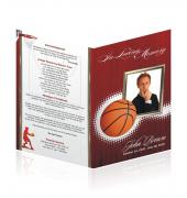Letter Single Fold Programes Sports Basketball #0030